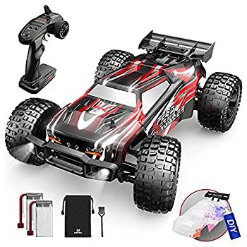 DEERC 9206E Remote Control Car 1 10 Scale Large RC Cars 48+ kmh High Speed for Adults Boys Kid,Extra Shell 4WD 2.4GHz Off Road Monster RC Truck,All Terrain Crawler Gift with 2 Battery for 40+ Min Play