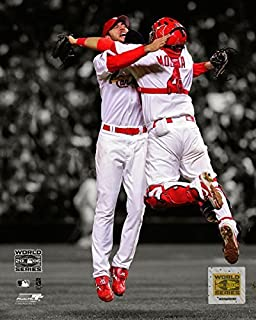 Adam Wainwright & Yadier Molina St. Louis Cardinals 2006 World Series Photo (Size: 8