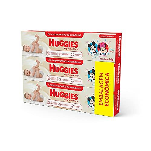 Kit 3 Cremes de Assaduras Huggies Supreme Care - 80g, Huggies, Vermelha,...