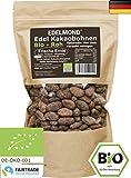 Edelmond rohe Bio Kakaobohnen. Frischware. Lizensiertes Fair Trade. Bio ohne