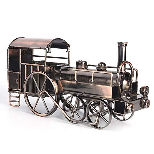 FAGavin Deko Vintage Zinn Dampflokomotive Modell Hause Wohnzimmer Studie Büro Dekoration Handgemachte Metall Handwerk Besondere Kreative Geschenk Souvenir Bronze