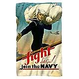 U.S. Navy Fight Let's Go Fleece Throw Blanket (36'x58')