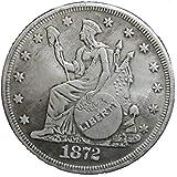 AmaMary Morgan Dollar Münze, 1 STK Silber USA Vereinigte Morgan Dollar $ 1 1872 Münzen Sammlung Antik Dollar heiß -