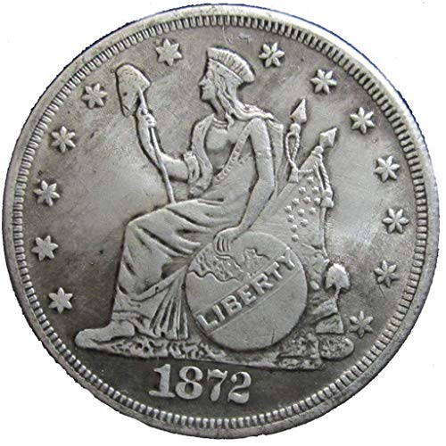 AmaMary Morgan Dollar Münze, 1 STK Silber USA Vereinigte Morgan Dollar $ 1 1872 Münzen Sammlung Antik Dollar heiß