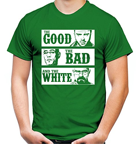 The Good The Bad and The White T-shirt voor heren en heren, spreuk van Walter Heisenberg