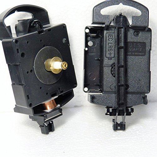 UTS Euroshaft Pendel-Quarzuhrwerk als Ersatz-Uhrwerk (Zeigerwellenlänge 16 mm) Minute Hand Fixing Nut Gold Open