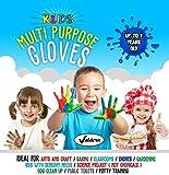 Valdern' Kinder Mehrzweck Latex Free - PULVERFREIE EINWEGHANDSCHUHE Wegwerf Handschuhe für Kinder ( Gemischte Farben - 20 Paare)
