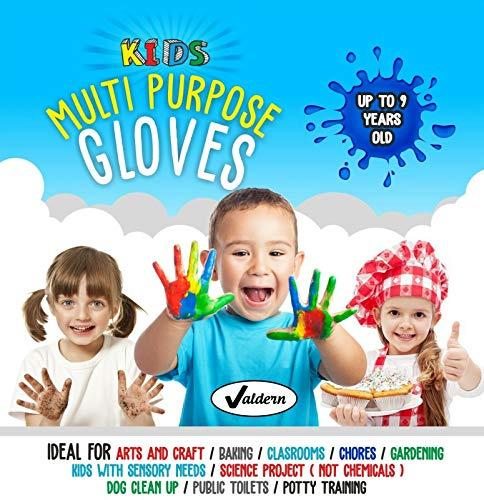 """Valdern"""" Kinder Mehrzweck Latex Free - PULVERFREIE EINWEGHANDSCHUHE Wegwerf Handschuhe für Kinder ( Gemischte Farben - 20 Paare)"""
