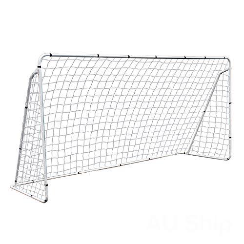 ZENY 12 X 6 FT Portable Soccer Goal,Football Goal Steel Post Netting Sports Training Net Kids Soccer Goals for Backyard,All Weather Net