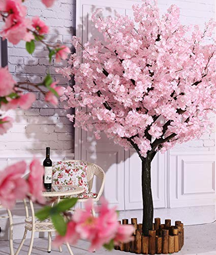 Vicwin-One Artificial Cherry Blossom Trees Handmade Light Pink Tree Indoor Outdoor Home Office Party Wedding (4FT Tall/1.2M)