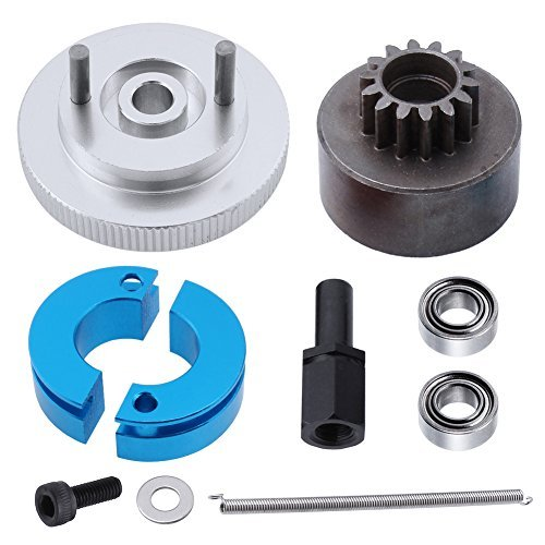 RC 14T Clutch Bell + Shoes with Spring +Flywheel Assembly Kit Set for Redcat Volcano S30 SH-18 VX-18 Nitro Engine Parts