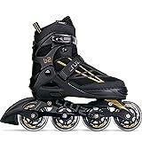 Movino Inline Skates Damen Herren Kinder | Cruzer B2 | Verstellbare Rollschuhe | Inliner Skates mit ABEC9-Lager | Rollschuhe Große Räder 76 mm | Bequeme Inliner Skates für Männer Frauen