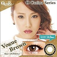 カラコン 度なし 1箱2枚入り QuoRe Carina Series/ソブレ/119223 14.0mm【VogueBrown--0.00】
