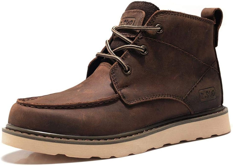 EGS-schuhe Herrenstiefel Stiefel Stiefel Lederstiefel Herrenstiefel Martin,Grille Schuhe (Farbe   Crazy Horse braun, Größe   40)