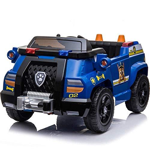 HYLH Auto elettrica Bambini 12V autorizzata Bambini a Quattro Ruote può Sedere Bambini Uomini e Donne Bambini Passeggino Auto Giocattolo Auto della Polizia A Quattro Ruote a Distanza