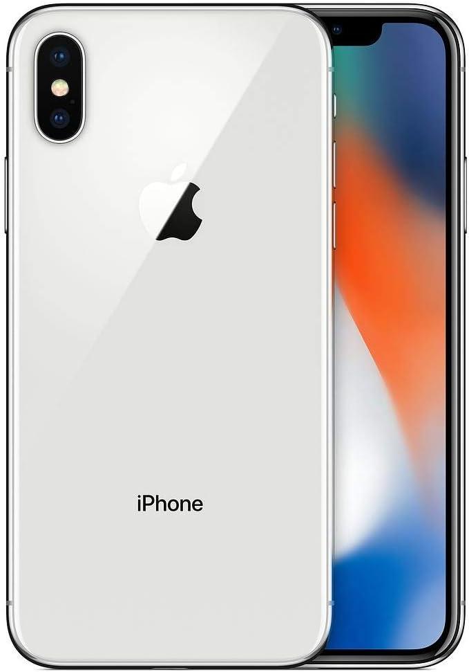 Apple iPhone X, 256GB, Silver - for Cricket Wireless (Renewed)
