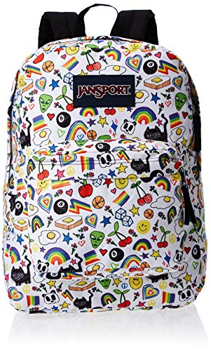 JANSPORT Superbreak – Mochila Ligera para Escuela, diseño Over The Rainbow