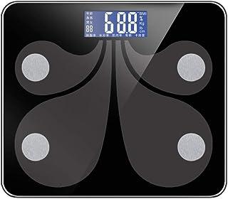 BINGFANG-W Balanza balanza Digital Bluetooth, Cuarto de baño Inteligente Báscula Báscula, 180Kg / 400 Libras Negro Cocina