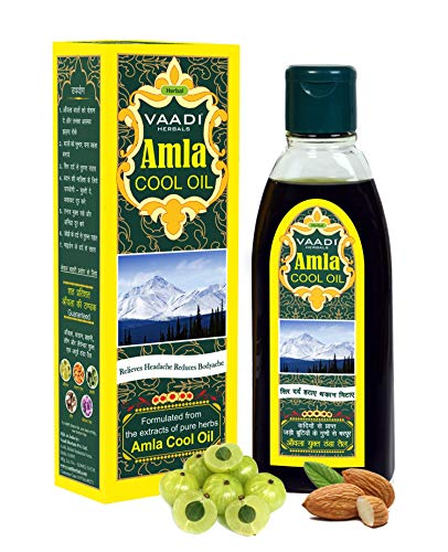 Vaadi Herbals Amla Öl mit Brahmi- und Amla-Extrakt, Kühleffekt, 200ml
