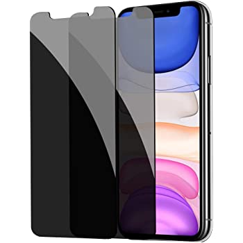 [2 Pack] Privacy Screen Protector for iPhone 11/XR, YMHML Tempered Glass Anti-Spy Bubble Free Case Friendly Easy Installation Film for iPhone 11/XR 6.1 Inch