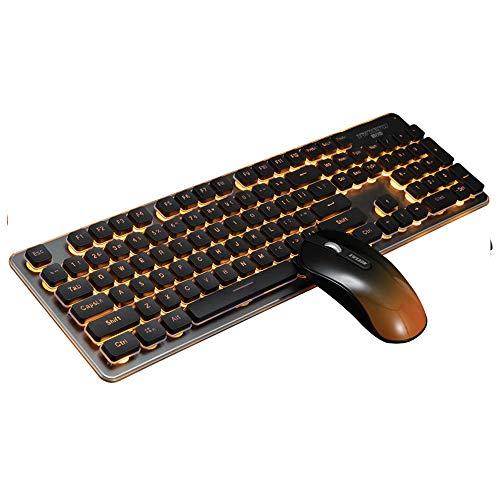 NCBH Bluetooth Gaming toetsenbord en muis, opladen licht stil draadloos toetsenbord en muis Geschikt voor thuis en op kantoor gebruik