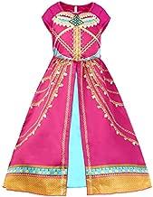 JiaDuo Girls Princess Costume Toddler Halloween Party Dress Up 3-4T Rose Red