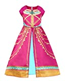JiaDuo Girls Princess Costume Toddler Halloween Party Dress Up 4-5T Rose Red