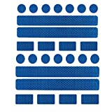 Girls'love talk Reflektoren Aufkleber Sticker, Reflektierende Licht Reflektoren Aufkleber, 26 Reflektoraufkleber Set für Kinderwagen, Fahrrad und Helme - Reflektor Leuchtaufkleber Sticker(Blau)