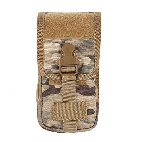 Fanny poacks Tactical Belt Bag - sostenedor del teléfono Caza camuflaje Molle Bolsa táctica del Ejército Deporte correa de cintura de la caja a prueba de agua al aire libre de Camo EDC Deporte Bolsas