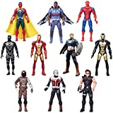 10 PCS Superhero Adventures Ultimate Super Hero Set, PVC Toy Dolls Collectible 6.7-Inch Action Figures, Holiday Toy Gifts for Kids. for Ages 3 and Up