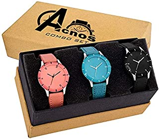 0a31e924c0 Acnos Special Super Quality Analog Watches Combo Look Like Preety for Girls  and Women Pack of