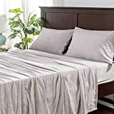 Berkshire Blanket LunaSoft Super Soft Cozy Warm Breathable Bed Plush Sheets Set, Dove, Queen (92' x 100')