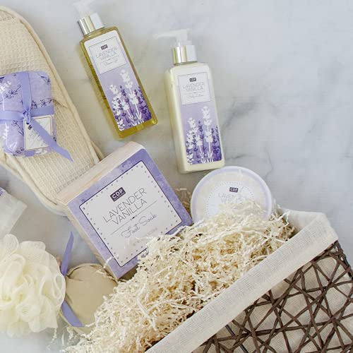 Spa Gift Basket For Women - A Day Off Spa Gift For Her Men Lavender Vanilla Scented Spa Gift Baskets Bath