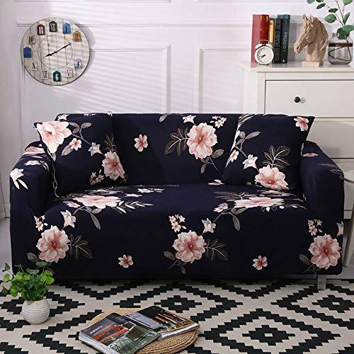 ASCV Funda de sofá elástica con Estampado Floral Estilo de línea Fundas de sofá elásticas para Sala de Estar Funda de sofá Funda de sofá seccional A9 2 plazas