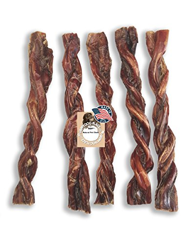 """HDP Bully Twists 9"""" Bully Sticks Odor Free Made in USA Size:Pack of 25"""