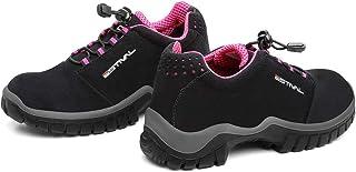 Sapato de Segurança Estival em Microfibra Preto/Rosa n° 40 - EN10021S2