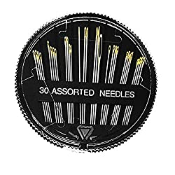 Self Threader Threading Sewing Needles Hand Sewing P7H3 SET Embroider X0W9