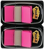 Post-it 680-BP2EU - Dispensadores de notas adhesivas (25.4 x 43.2 mm, 2 unidades x 50 marcapáginas), color rosa