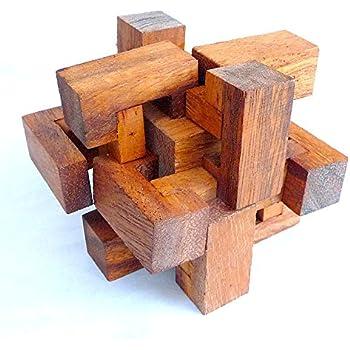 LOGICA GIOCHI Art. Trappola - Rompicapo 3D ad Incastro in Legno - Difficoltà 5/6 Incredibile - Serie da Collezione Leonardo da Vinci