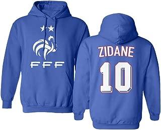 Tcamp Soccer Legends #10 Zinedine Zidane Jersey Style Men's Hooded Sweatshirt