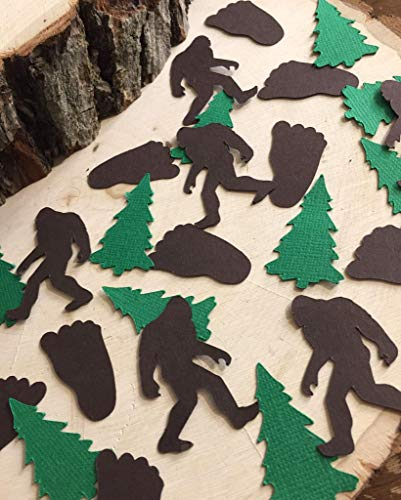Bigfoot and Evergreen Tree Confetti - Sasquatch Party (Set of 175 Pieces)