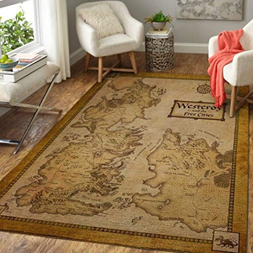 Westeros Map Game of Th-r-Ones Home Decor Rectangle Area Rug