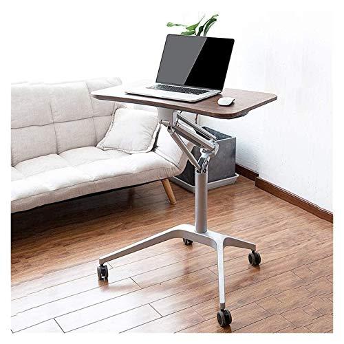 RH-HPC Mesa plegable con soporte de aluminio para portátil, mesa de ordenador portátil, mesa de estudio, mesa de lectura, mesa auxiliar portátil para cama o silla, (color: marrón)
