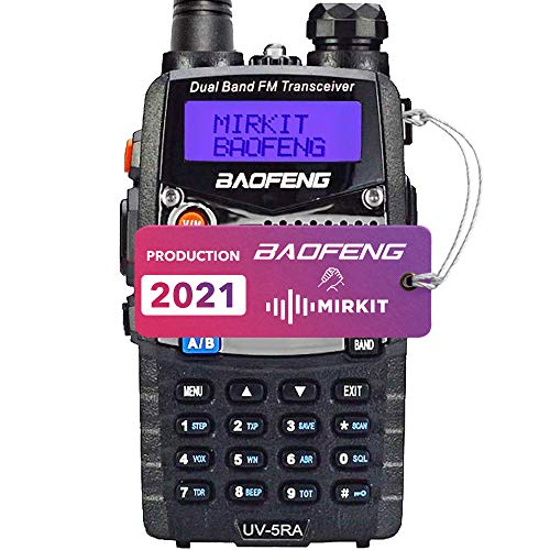 Baofeng Ham Radio UV-5RA 2020 Normal Power 1800 mAh Li-ion Battery Mirkit Edition and Lanyard Mirkit Ham Radio Operator, Walkie Talkies Dual Band Two Way Radios