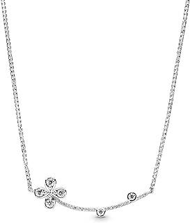 PANDORA Four-Petal Flower 925 Sterling Silver Necklace, Size: 50cm, 19.7 inches - 397956CZ-50