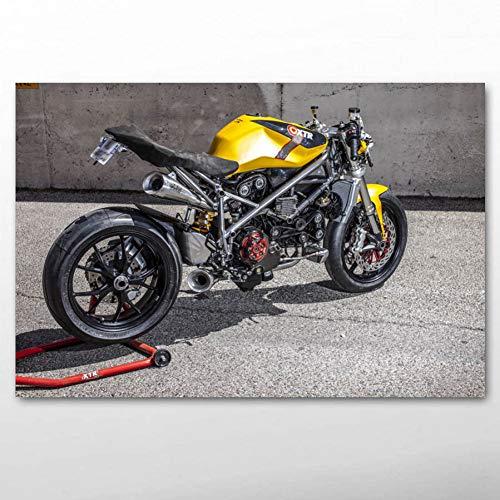 QAZEDC Dekorative Malerei Motorrad Motorrad Rennen Rennrad Superbike Wandkunst Poster und Drucke Leinwand Gemälde Für Raumdekor 60x80cm