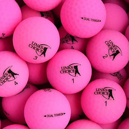 Links Choice Unisex 12Dual Titan Vibe Optik matt Finish Golf Balls, Pink