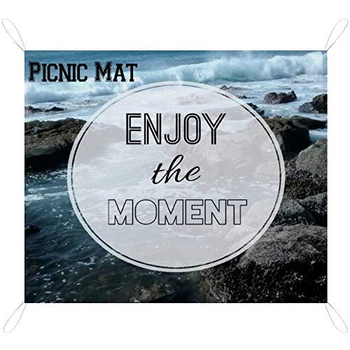 InspirsPanda Personalisierte Picknickmatte mit Foto-Logo Text Name Gartenparty im Freien/drinnen wasserdichte Matte BBQ 79 '' × 57 ''