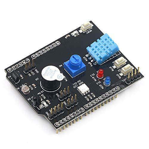 WULE-RYP Adaptador Junta Humedad de la Temperatura del Sensor multifunción de expansión for UNO R3 RGB IR LED Receptor zumbador I2C