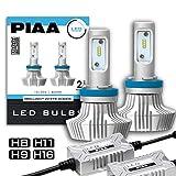 【Amazon.co.jp 限定】PIAA ヘッドライト・フォグランプ用 LEDバルブ 6000Kシリーズ 4000lm H8・H9・H11・H16 12V 20W車検対応 2個入 X7342